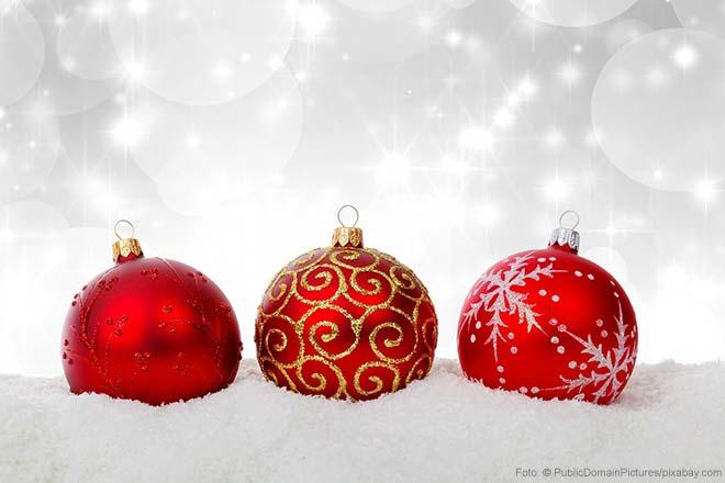 Weihnachtskugeln für den Christbaum